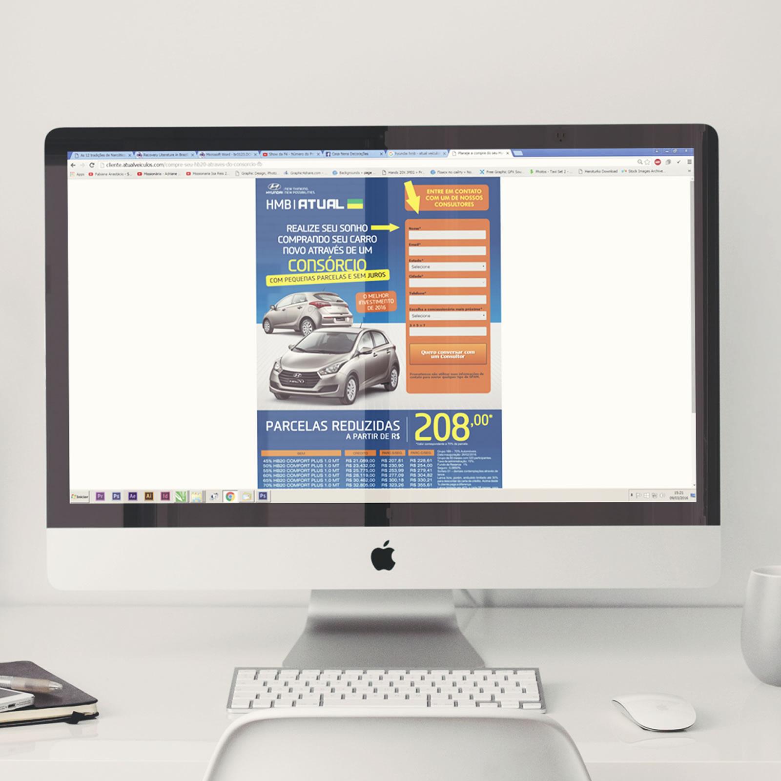 Landing Page | Hyundai Atual Veículos | Consórcio